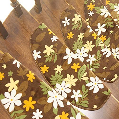 ANHPI Stair Mats Tappeto Scala Antiscivolo Protezione da Protezione Stile Europeo Multicolore E Dimensioni Set da 15 Pezzi,C-75 * 24 * 3cm
