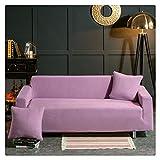 GUOCU Fundas de Sofás Elástica de Punto Universal Protector del sofá Se Adapta a Toda la Tela Cubierta Cubierta de Muebles Elegante y Duradera para Sofá Decorativa,Púrpura Claro,1 Plazas(90-140CM)