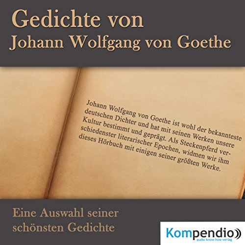 Gedichte von Johann Wolfgang von Goethe Titelbild