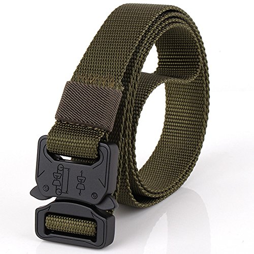 """Efanr Mens Tactical Belt, 1"""" Adjustable Webbing Belt with Quick-Release Buckle"""