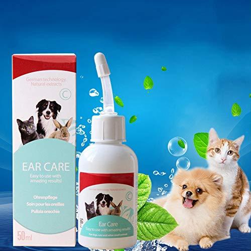 PanDaDa Dog Ear Cleaner, Ohrenreiniger Sanfte Formel für Hunde und Katzen, Pet Ear Cleaner zum Entfernen von Wachs und Schmutz, Reduziert Gerüche und pflegt die Sauberkeit der Ohren