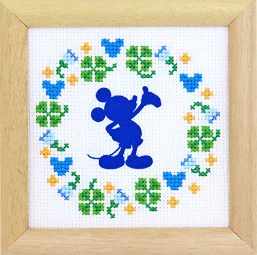 ディズニー クロスステッチ刺繍キット オリムパス フラワーコレクション ミニフレーム ミッキーマウス /7369