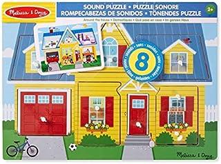 Melissa & Doug Around the House Sound Puzzle - Wooden 8 pcs