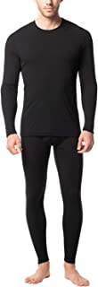 Men's Preswarm Heat Generation Thermal Underwear Long John Set Lightweight Base Layer Top and Bottom M66