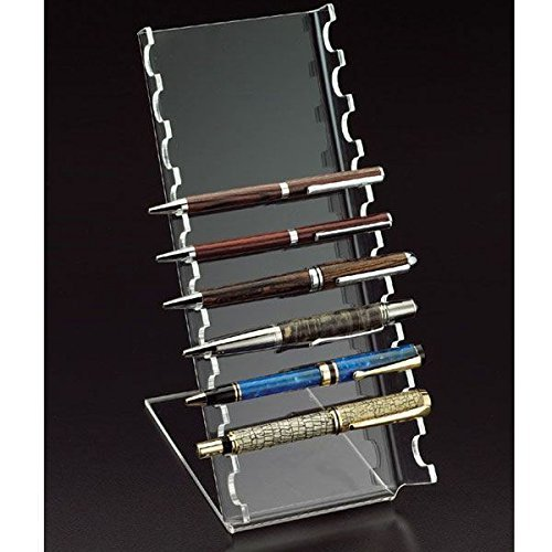 Beauticom New 10-Slots Premium Clear Acrylic Holder For Pen, Makeup Brush, E-Cigarette, Vapor, Pencil Display Stand. Premium Quality & Durable. Suitable For Home, Office, Store Display Usage