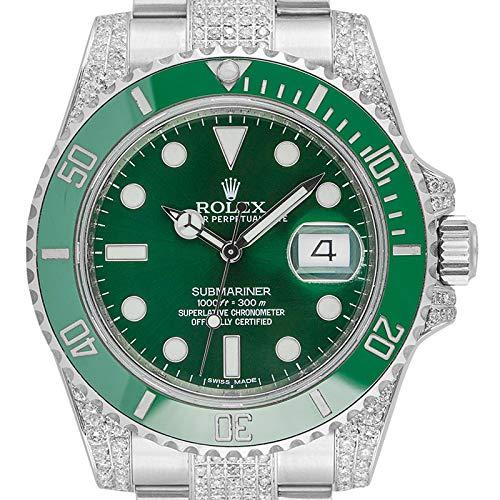 Rolex Submariner, Datumsanzeige, Edelstahl, grünes Zifferblatt, 116610LV