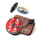 Retro Record Player Car Decor,Record Player Design Car Air Freshener,Automotive Air Freshener Purifier With DIY Possible Tablets for Car Home Office, 3 Aromatherapy Tablets Included.
