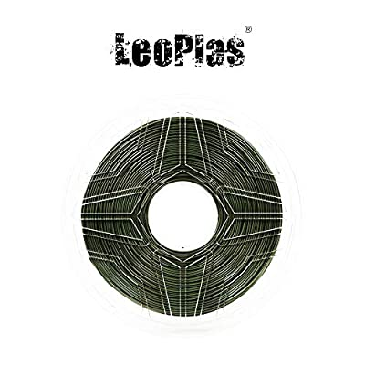 LeoPlas New Store USA Spain China Warehouse Global Shipping 1.75mm Soft Flexible Army TPU Filament 16 Colors 1Kg 2.2 Pounds FDM 3D Printer Pen Supplies Printing Material (Military Green)