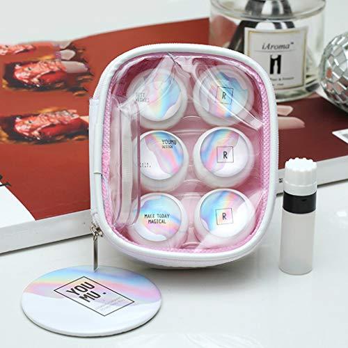 Unsichtbare Myopia Spectacle Box Laser-Stealth-Box coole Persönlichkeit einzigartige schöne Schüler Begleiter Box Make-up Tasche 3-Pack