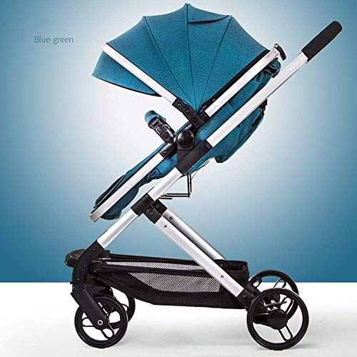 Review Baby Stroller Can Sit and Lie Down Folding Shock Absorber Two-Way Four-Wheeled Stroller Can B...