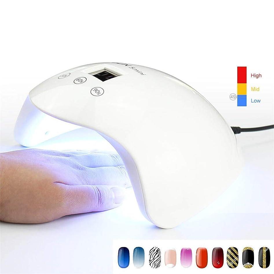 24ワットミニ紫外線ledランプネイルドライヤー機マニキュア硬化すべてゲルポリッシュランプ紫外線療法ランプlcdディスプレイ