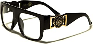 Flat Top Aviator RX Glasses Gold Buckle Clear Lens Sunglasses