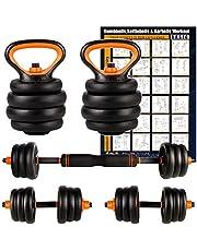 CCLIFE Haltères Musculation,Kit Kettlebell réglables Multifonctionnels pour Fitness Parfaits pour Adaptés au Fitness à Domicile et à la Musculation