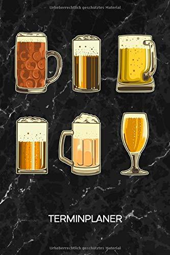 TERMINPLANER: Bierliebhaber Kalender Mo. bis So. - Bierkrug Terminkalender - Glas Bier Wochenplaner Saufen Taschenkalender für To-Do Liste & Termine - Biersorten Männerabend Motiv