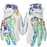 Golf Gloves for Women Ladies Soft Leather Accessories Breathable for Non Slip 1 Pair