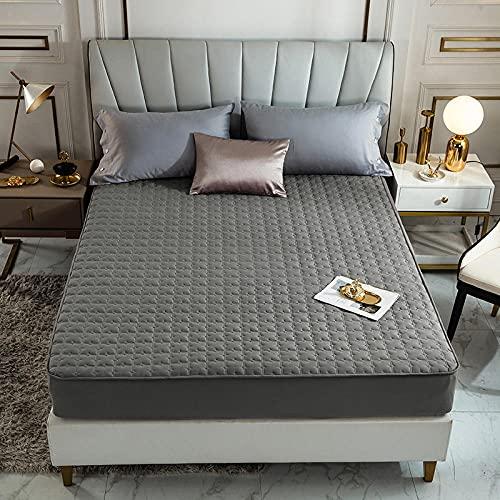CYYyang Protector de colchón, algodón, poliéster, Una Sola Pieza de Funda Protectora de Color Puro para sábana-16_180 * 200cm
