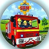 Fondant Tortenaufleger Tortenbild Geburtstag Feuerwehrmann Sam AMA 15