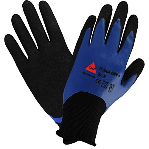 strongAnt - PADUA DRY + Guantes de montaje para trabajos mecánicos, guantes protectores de nylon con recubrimiento de nitrilo - Talla 11