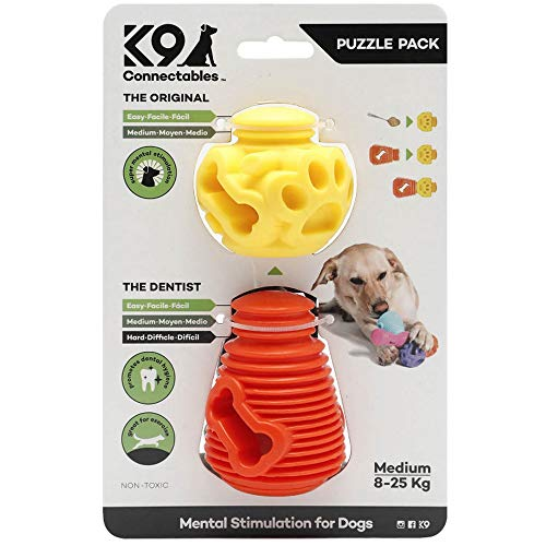 K9 Connectables Large Puzzle Pack Orange & Yellow, 1000 g