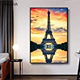 KWzEQ Imprimir en Lienzo Imagen de Arte Moderno de la Torre Eiffel onhomewall50x75cmPintura sin Marco