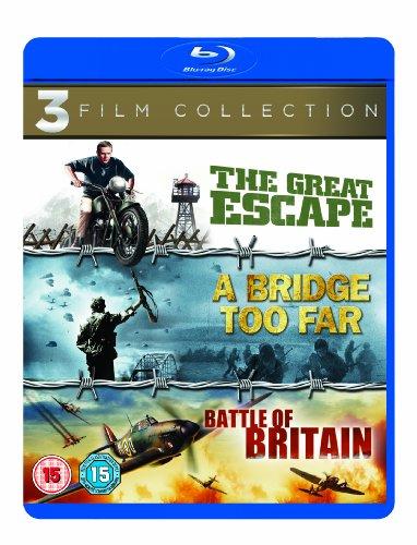 The Great Escape / A Bridge Too Far / Battle of Britain [Blu-ray] [1963] [Region Free]
