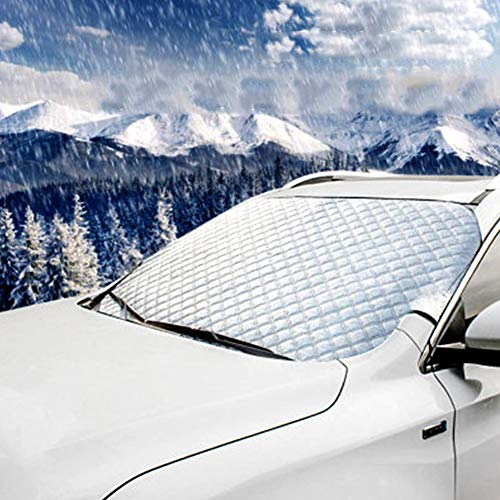 MAQLKC Copri Parabrezza per Auto, Parabrezza Manto nevoso, Parabrezza dell'automobile Neve Fodera in Cotone Spessa No More Raschiare Esterno di Inverno NJZ12