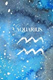 Aquarius Horoscope Zodiac Journal - 123 pages - 6x9 lined notebook