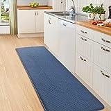 Color&Geometry Alfombra de Cocina 44x200cm.Alfombra Cocina Lavable Antideslizante,Alfombrilla Cocina,alfombras para Cocina,Pasillo,Entrada,Alfombra de Comedor.(Azul)