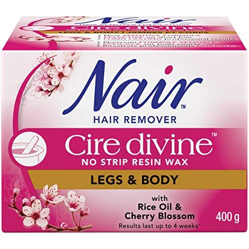 Nair Cire Divine Microwaveable Body Hair Removal Wax Kit (Japanese Cherry Blossom, 400g/14oz)