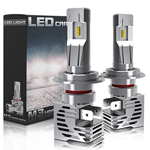 16000lm H4 H7 LED Bombilla de faro 6000K White H11 H8 HB3 HB4 9005 9006 Lámpara de bombilla Automóvil Luz de coche 12V 24V Super Universal LED Bombilla de seguridad (Socket Type : H11)