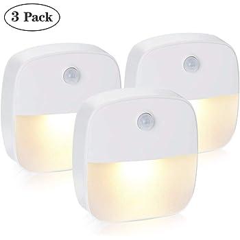 Chruikar 2PCS Lumière de Nuit Sans Fil Rechargeable USB