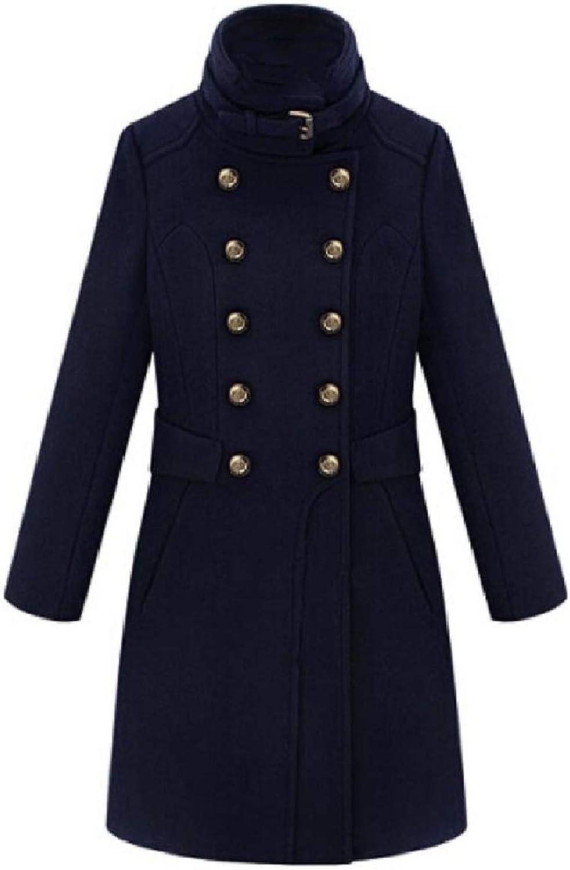 Spodat Women DoubleBreasted Classics ThighLength Merino Duffle Coat