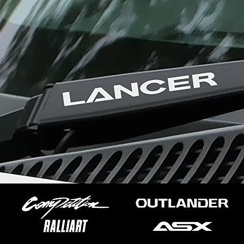 4 STÜCKE Autofensterwischer Decor Aufkleber, Für Mitsubishi Lancer 10 3 9 EX Outlander 3 ASX L200 Ralliart Wettbewerb