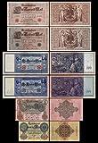 *** 20,50,100,100,1000,1000 Reichsbanknoten 1910 - P40-P41-P42-P43-P44-P45 - Reproduktion *** -