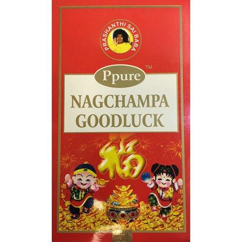 ppure Nag Champa Goodluck Perfume Premium Masala–Varillas de incienso 15gramos