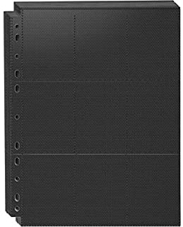 Rayvol Premium 9-Pocket Top-Loading Trading Card Sleeves - 20 Pages, 360 Pockets Binder Sheets for TCG, Compatibile with P...
