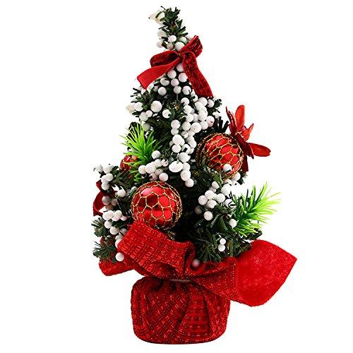 Gosear mini arbre de Noël décoration de table ornement Noël décor pour le Bureau à domicile vitrine de Noël rouge partie