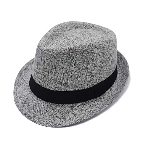 JEEDA Panama Fedora Trilby Derby Hut Mütze für Herren Damen Filzhut Hat for Men Women JS