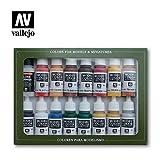 Paint Vallejo Model Color Revolución Americana Acrílico Set - Surtido de Colores (Pack de 16)