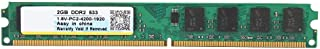Tosuny Memoria de la computadora, Memoria de actualización Xiede DDR2 533 1.8V 2GB Memory Stick Memoria de actualización del módulo RAM para el Escritorio para AMD