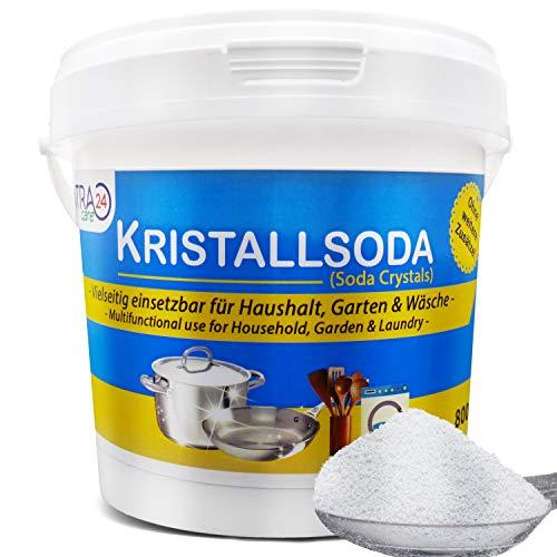 Centra24 Kristallsoda in Eimer, 800g, Waschsoda, Fettentferner, Extra Glanz, Haushalt, Wäsche, Garten, Natriumcarbonat, Backofenreiniger, NA2CO3, Soda