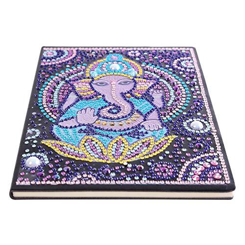 Pintura de diamante DIY 50 páginas A5 Bloc de notas inalámbrico Mandala Cuaderno de bocetos portátil Mosaico Graffiti Libro de imágenes Regalo creativo del día de la madre Regalo para el hogar