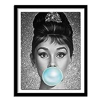 DIYクロスステッチキットダイヤモンド絵画 フルダイヤモンドクリスタルラインストーン、リビングルームの壁の装飾のためのアートクラフト オードリー彼の肖像(30x40)CM