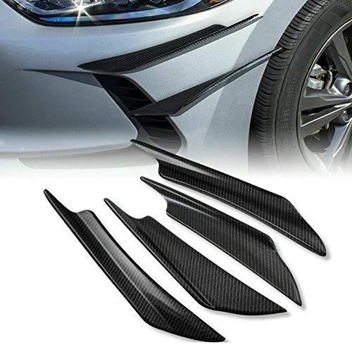4 Stücke Auto Kohlefaser Frontstoßstange Universal Spoiler Carbon Trim Spoilerlippe Kantenschutz Seitenschweller Kotflügel