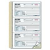 Rediform Money Receipt Book, Gold Standard, Two-Part Carbonless, 8.5 x 5.5, 3 per Page (8L829)