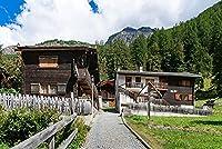 スイス村村ランダフェンス都市ビル大人のパズル子供1000ピース木製パズルゲームギフト家の装飾特別な旅行のお土産