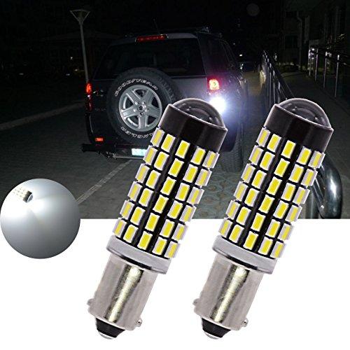 Tuincyn Blanc 900 lumens BA9S Base 3014 78smd objectif ampoules LED tourner Signal Feux arrière inversée sauvegarde de frein lumière LED DC 12 V-24 V 4 W (2-Pack) 4.00 W 12.00 voltsV