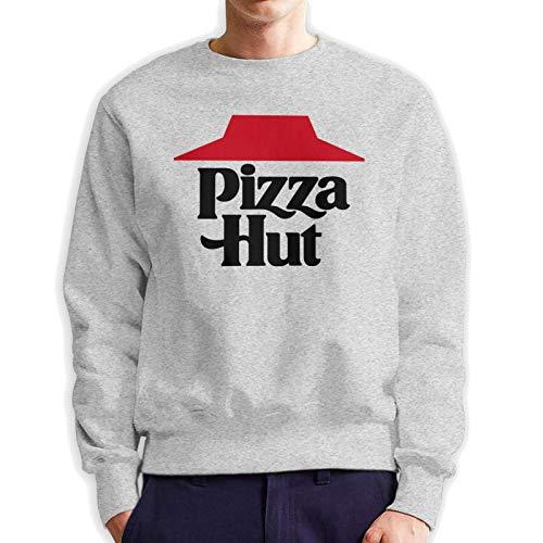 Pizza Hut Comfortable Sweatshirt Mans Sport T-Shirt Long Sleeve Hoody Gray
