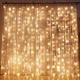 Quace 300 LED Window Curtain String Light Wedding Party Home Garden Bedroom Outdoor