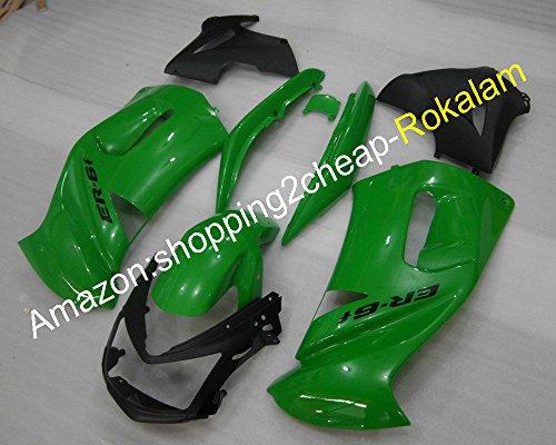 650R Racing 06 07 08 Kit de carenado para Kawasaki ER-6F 2006 2007 2008 Green Ninja 650 Juego de carenado para motocicleta